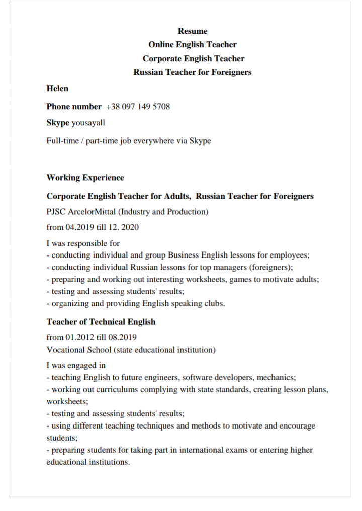 english teacher online