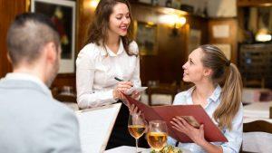 урок по английскому в ресторане